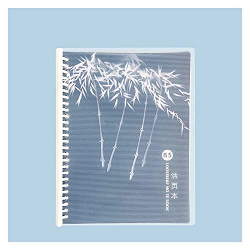 WANGYIYI 2pcs Cuadernos creativos B5 Cuaderno de Bobina extraíble Bloc de Notas Recargable Binder Design Diario de Cubierta Impermeable PP para niñas niños Adultos (Color : B)