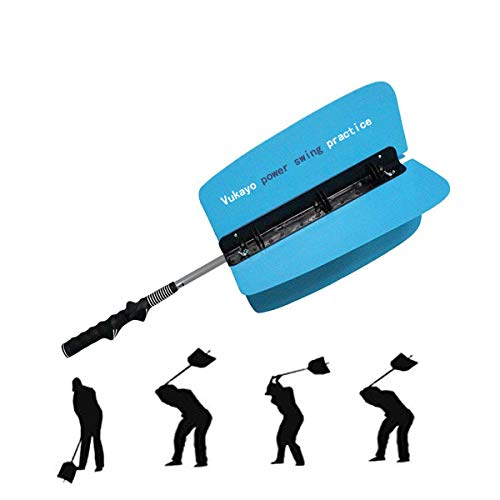 Vukayo Golf Power Resistance Trainer,Golf Swing Training aid Fan for Golf Power Swing (Blue)