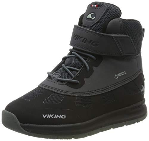 Viking Ted GTX, Botas de Nieve Unisex Niños, Negro (Black/Charcoal 277), 30 EU