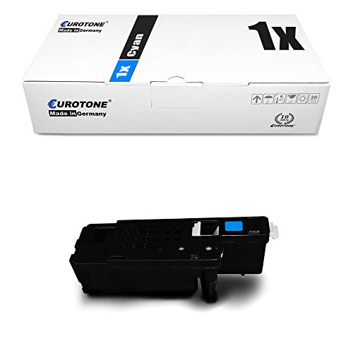 1x Eurotone Toner für Dell E 525 w ersetzt 593-BBJU VR3NV Cyan Blau Kartusche Druckerpatrone