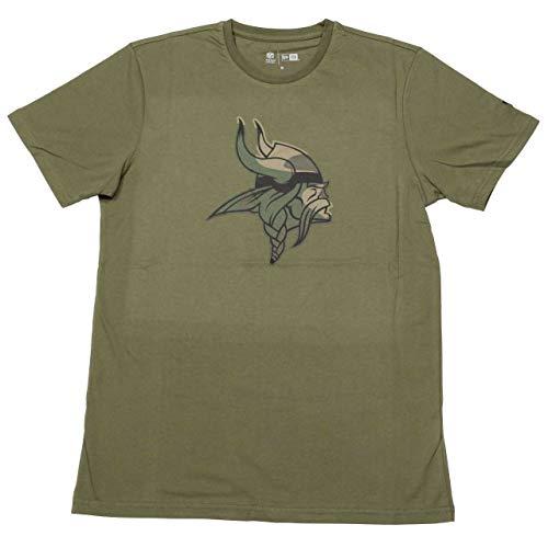 New Era Camo Logo Shirt - NFL Minnesota Vikings Oliv - XL