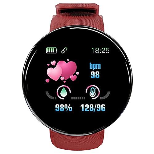 Reloj inteligente impermeable multifunción, monitor de actividad física, monitor de frecuencia cardíaca, reloj inteligente para fitness