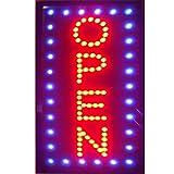 CHENXI LED Open Sign verticale 48x 25cm interni LED ultra luminoso negozio segno di moderno 48 X 25 CM F