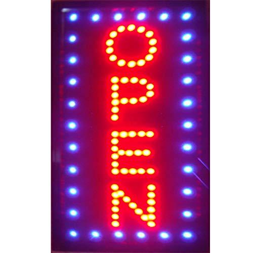 CHENXI LED Offenes Schild vertikal, 48 x 25 cm, für den Innenbereich, sehr hell, für Ladengeschäfte (48 x 25 cm, F)
