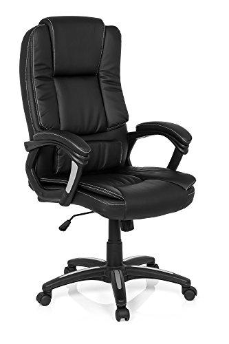 MyBuero Chefsessel Bürostuhl RELAX CL120 Kunstleder Schwarz Schreibtischstuhl mit Armlehnen, dicke Polsterung 725006