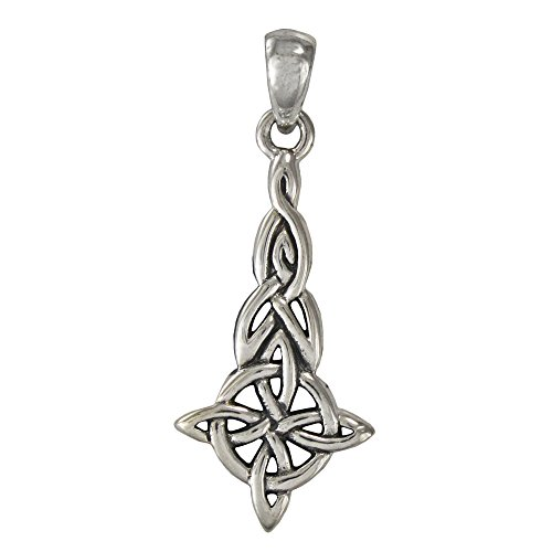 Sterling Silver Celtic Triquetra Witches Knot Pendant