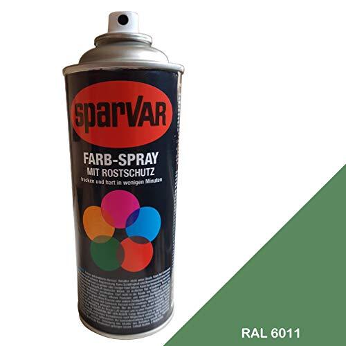 SparVar 6098555 Lackspray RAL 6011 Resedagrün matt, 400 ml