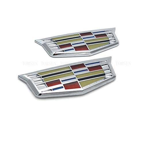 Car Tailgate Hood Emblem, Metal Labeling Fit for Cadillac ATS SRX XTS CTS XT5 XLR,etc
