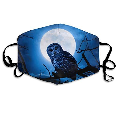 Chouette de nuit réglable anti-poussière sur les branches de la pleine lune réutilisable et lavable demi-protection du visage