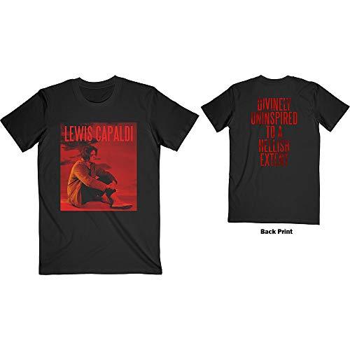 Lewis Capaldi 'Divinely Uninspired' (Black) T-Shirt (x-Large)