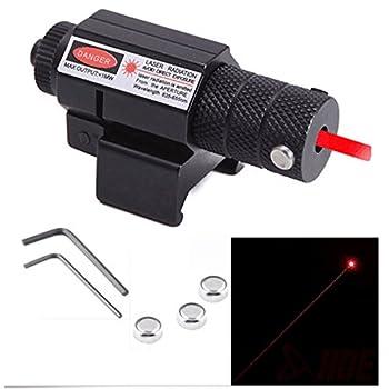 KingFurt Tactical Red Laser Beam Dot Sight Scope for Hunting Gun Rifle Pistol handgun 20mm Mount with Button