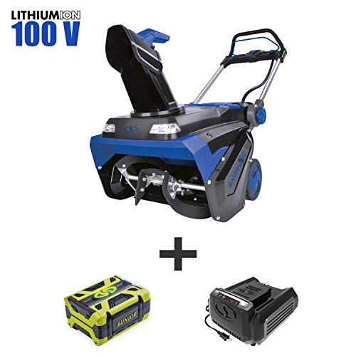 Snow Joe iON100V-21SB 100-Volt iONPRO Cordless Brushless Variable Speed Single Stage Snowblower Kit | 21-Inch | W/ 5.0-Ah Battery and Charger