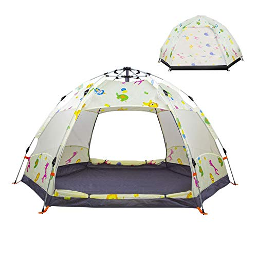 WGYDREAM Camping Tent 5-8 Man Tent, Family Tent With Large PVC Windows And Lights Out Bedrooms (Color : D)