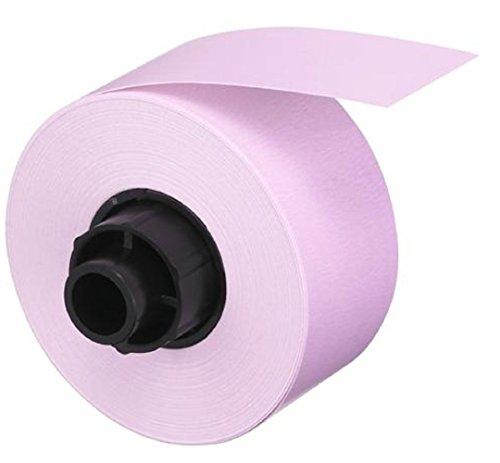 CASIO Labemo XA-12PK1 Papier-Schriftband selbsthaftend 12 mm x 5,0 m schwarz auf blass pink