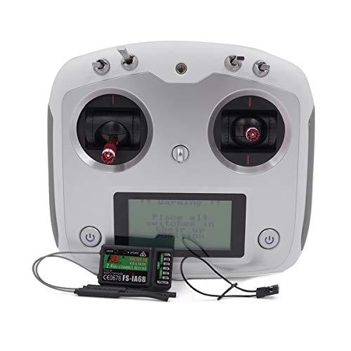 Elegantamazing Fly-Sky FS-i6S 2.4 G 10 CH RC Transmisor Controlador w/6 CH FS-iA6B Receptor o 10 CH FS-iA10B Receptor Blanco FS-i6S+IA6B Regalos de Cumpleaños