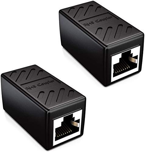 HehiFRlark - Adaptador RJ45 hembra para alargador de cable Ethernet Ethernet Cat 5 / Cat 6 Ethernet