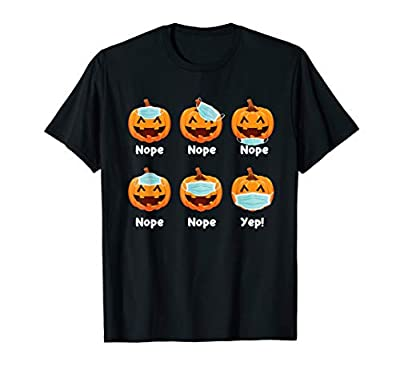 Halloween 2020 Pumpkin Wearing Mask Wrong Funny Gifts T-Shirt