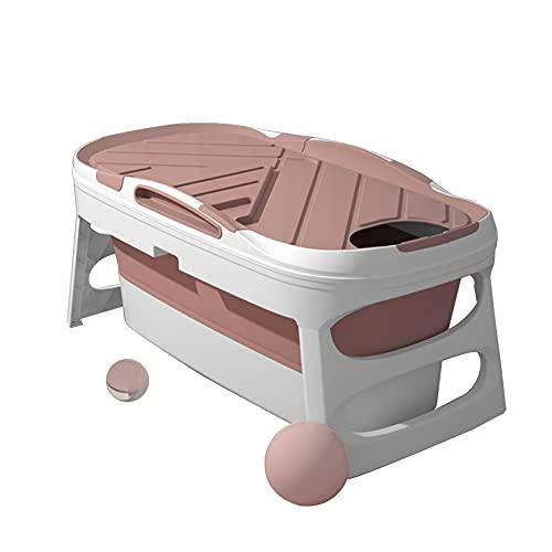 Vasca da bagno pieghevole, Vasca da bagno portatile per adulti, Vasca da bagno pieghevole per adulti, Vasca da bagno per adulti, Vasca da bagno portatile, Vasca da bagno,125*64*54cm-Pink