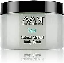 Avani Natural Mineral Body Scrub - Dead Sea Salt, Vitamin E, Jojoba, Sunflower, Sweet Almond - Exfoliating Formula for All Skin Types - Pear/Apple