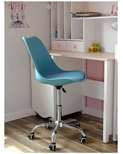 QLS Bürostuhl Drehstuhl Schreibtischstuhl Office Stuhl Büromöbel Chefsessel Farbwahl (Türkis #E06013)