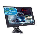 Xgody X4BT SAT NAV UK 9 inch Bluetooth Truck GPS Navigation System,8GB Cars Lorry Satellite Navigator,Postcode Search and Speed Camera Alerts,Lane Guidance,2020 UK&EU Map Lifetime Free Update
