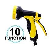 Gartenbrause, Gartenhandbrause Hochdruck-Handsprühgerät, 10 Bewässerungsmodi, Multifunktionale...