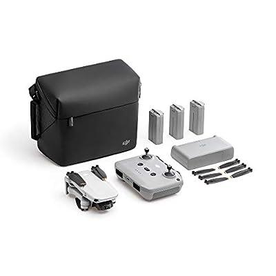 RIIMUHIR DJI Mini 2 Fly More Combo – Ultralight Foldable Drone, 3-Axis Gimbal with 4K Camera, 12MP Photos, 31 Mins Flight Time, OcuSync 2.0 10km HD Video Transmission, QuickShots, Gray by Riimuhir