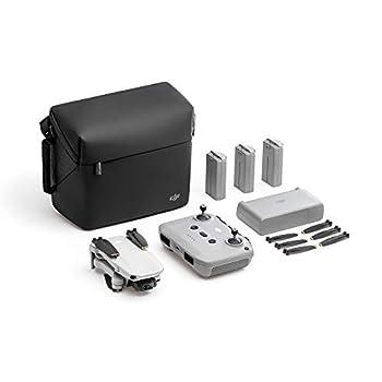 DJI Mini 2 Fly More Combo – Ultralight Foldable Drone 3-Axis Gimbal with 4K Camera 12MP Photos 31 Mins Flight Time OcuSync 2.0 10km HD Video Transmission QuickShots Gray