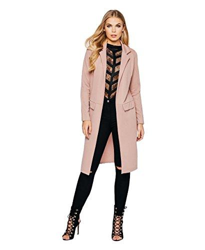 Momo&Ayat Fashions dames crêpe longline duster jas UK maat 8-16