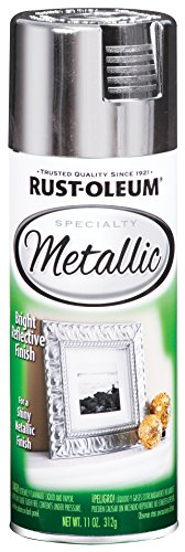 Rust-Oleum 1915830-6 PK Specialty Metallic 1915830 Spray Paint 11 oz, Silver, 6-Pack,