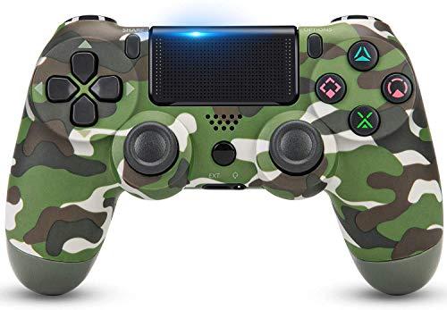 Kontroler gier na PS4, kontroler bezprzewodowy na Playstation 4 z joystickiem di Gioco i Doppia Vibrazione, Verde (Green Camo)