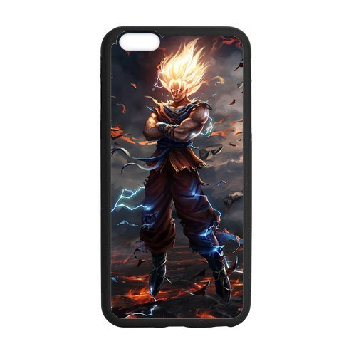 Dragon Ball Z Compatible con iPhone 12/12 Pro MAX 12 Mini 11 Pro MAX SE 2020 X/XS MAX XR 8/7 6/6s Plus Fundas de teléfono de protección Negra