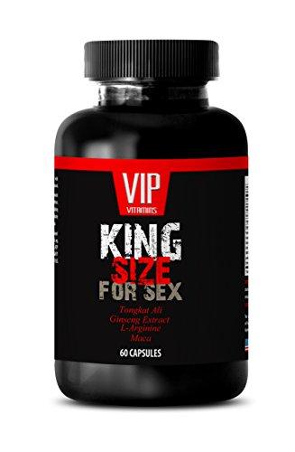 Natural Testosterone Booster for Men Best Seller - King Size for Sex - Tongkat ali maca l arginine - 1 Bottle 60 Capsules