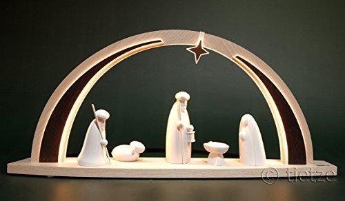 LED Schwibbogen modern Christi Geburt groß 57cm Erzgebirge