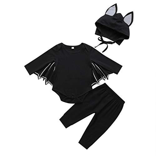 Moneycom Toddler - Disfraz para nio, nio, nia, cosplay, Halloween, disfraz de Halloween, color negro, gris, gris oscuro Negro 6-12 Meses