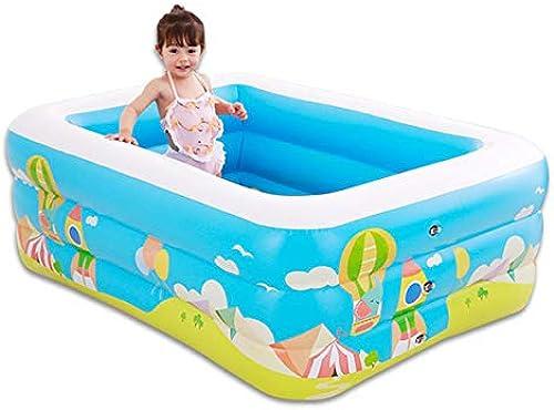 Der aufblasbare Pool Wassersport der Kinder spielt aufblasbares Pool des Familienbabys