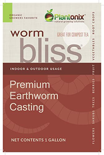 Worm Bliss Premium Vegan & Organic Earthworm Castings, (4 Quart) [Package May Vary]