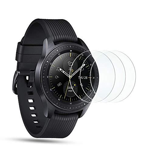 OMOTON [3 Stück] Panzerglasfolie für Samsung Galaxy Watch 42 mm/Samsung Galaxy Watch3 41mm, 9H Härte,Anti-Kratzen,Anti-Öl,Anti-Bläschen