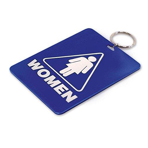 Lucky Line - Chaveiro com chave de passagem de banheiro feminino, plástico com chaveiro dividido Identificador para restaurante, escritório, posto de gasolina, 1 por pacote (53001)