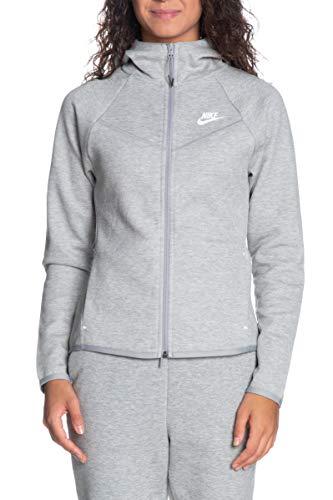 Nike Sportswear Windrunner Tech Fleece Giacca da Donna, Donna, Giacca, BV3455, Grigio Scuro mélange/Argento Opaco/Bianco, XS