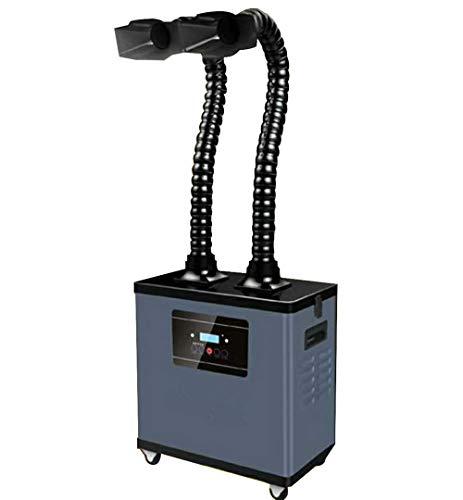 BAOSHISHAN Filtro de Humo Extractor de Humos de la Industria Absorbentes de Humo de Soldadura Digital para Estación de Soldadura Sistema de Dos Brazos (220V)