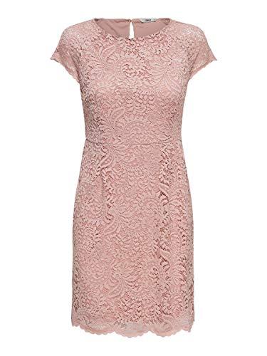 ONLY NOS Onlshira Lace Dress Noos Wvn, vestido Mujer, Rosa (Pale Mauve Pale Mauve), 40 (Talla fabricante: 40)