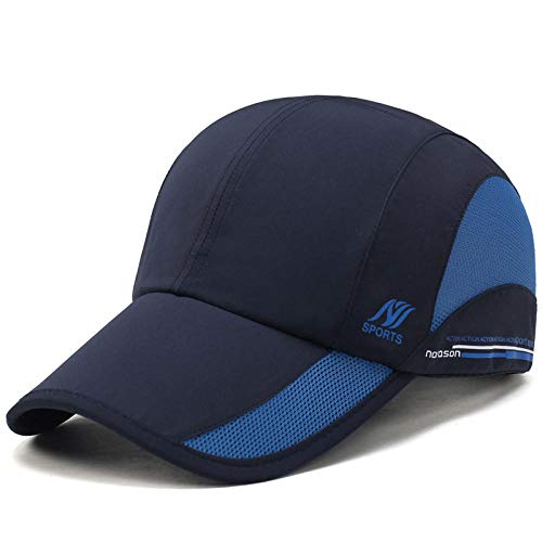 Unisex Summer Man Baseball Cap Men Women Caps Quick Dry Hat Bone Male Climbing Running Sport Hats-Navy_Blue_Adjustable