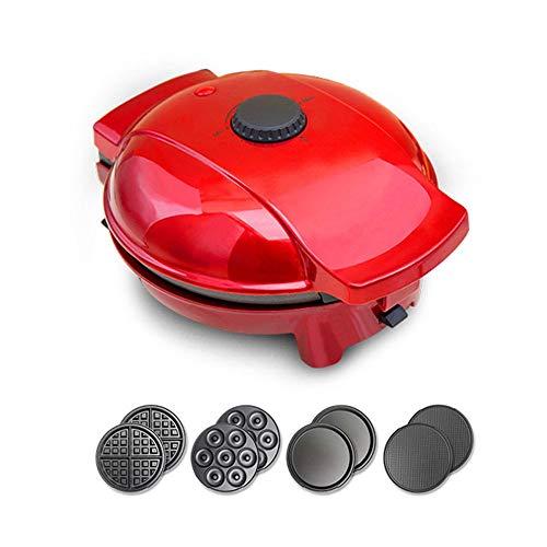 Huishoudelijke wafelijzer, 4 in 1 Keuken multifunctionele wafelijzer Spring Roll Machine Waffle Machine, Afneembare bakplaat for panini's, koekjes, Hash Browns Andere