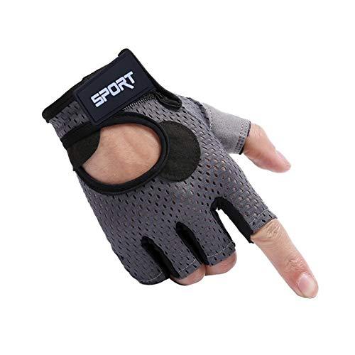 POOMALL Guantes sin dedos guantes tácticos Guantes de Airsoft, la aptitud de medio dedo guantes de la pesca de seda del hielo Montar protector solar antideslizante anti-callo de la pesa de gimnasia de