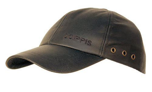 SCIPPIS Australian Adventure Wear Leather Cap, One Size, Brown