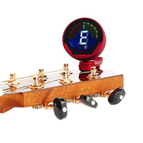 Professionele Clip digitale tuner voor gitaar/bas/ukelele/viool/Chromatische Full Color Beeldscherm Groot LCD 360 graden