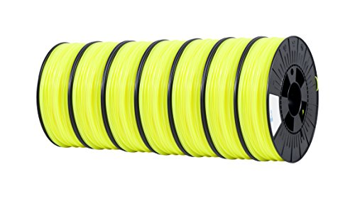 ICE FILAMENTS, PLA - ø 2.85 mm - 7 pack of 750 gram, 5,25 kg - Filament, Fluo Young Yellow, 7