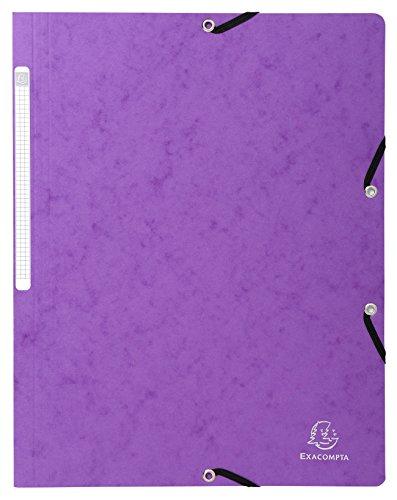 Exacompta 5568E Eckspannmappe (Manila-Karton, 400g, DIN A4) 1 Stück violett