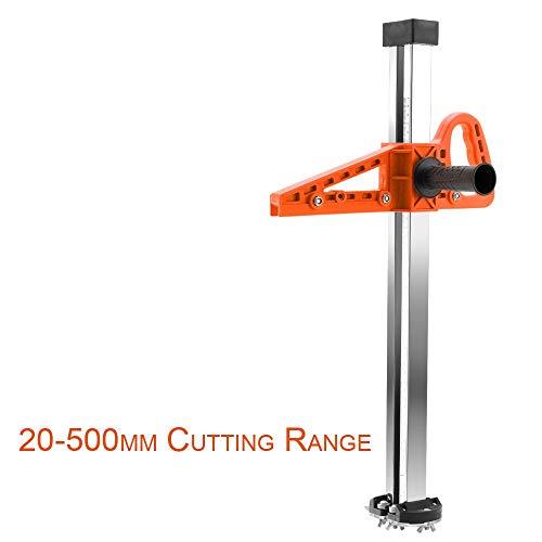 WJW-MUGONGJU, Handbuch High Accuracy Gips-Brett Cutter Hand drücken Trockenbau Schneide Artifact-Werkzeug mit 4 Bearings 20-600mm Bereich Cutting (Color : Orange Short Type)